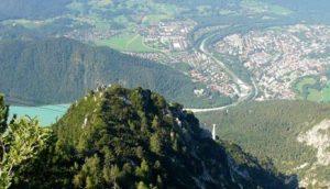 Pogled sa alpskih vrhova na Bad Rajhenhal