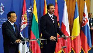 Kineski premijer Li Kećijang i srpski premijer Aleksandar Vučić na Samitu Kine i 16 zemalja centralne i istočne Evrope, u Beogradu 16. decembra