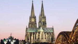 Kelnska katedrala, pogled sa Rajne