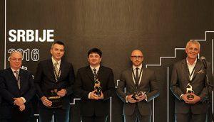 Представници пет компанија које су добиле признања и захвалнице