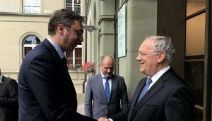 Премијер Вучић са председником Швајцарске Шнајдер-Аманом
