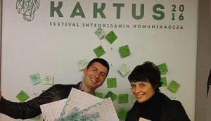 Sa dodele nagrade: Željka Paraušić i Filip Jančić
