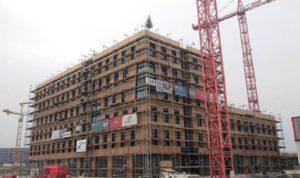 Izgradnja HoHo tornja, snimljeno u januaru 2018.