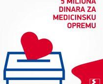 EKO Srbija donirala pet miliona dinara za borbu protiv korona virusa